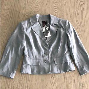 Shape fx grey blazer NWT